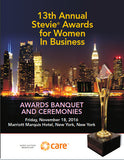 2016 Stevie Awards for Women in Business Awards Banquet Program