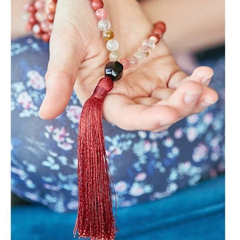 Activate your mala beads, prayer beads, mala bead intentions, reset mala beads,