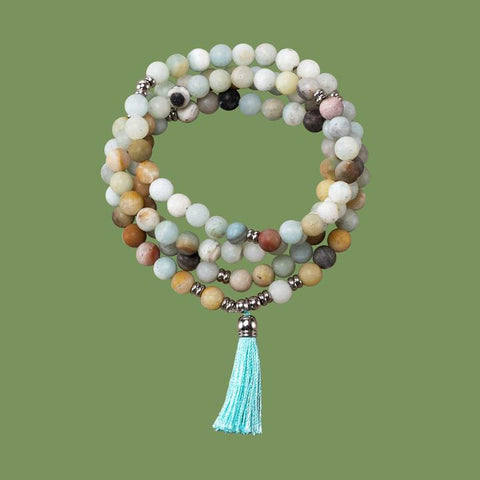 mala bracelet, mala necklace, mala beads, fresh beginnings, new beginnings, fresh start, mala beads for new beginnings, natural stones for new beginnings, stones for a fresh start,