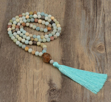 mala beads, mala necklace, meditation, mantras for stress, relieve stress, stress relief mantras,