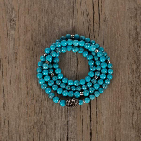 108 beaded mala necklace