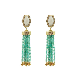 Adrian Cascade Earring in Amazonite