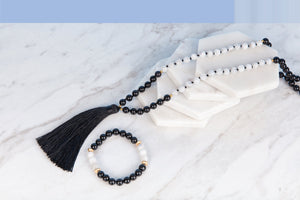 Dark Moon Mala Necklace