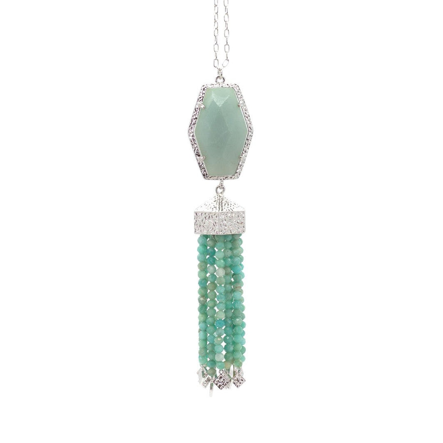 Ariel Tassel Necklace in Amazonite