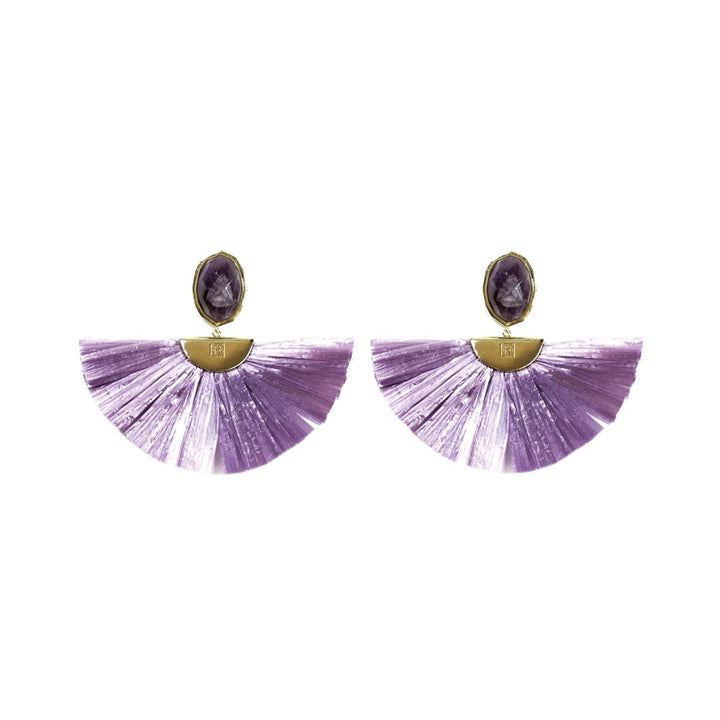 Cara Flutter Earrings in Lavender