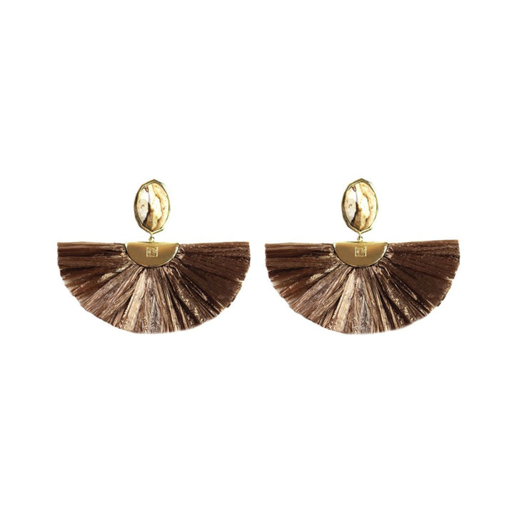 Cara Flutter Earrings in Mocha