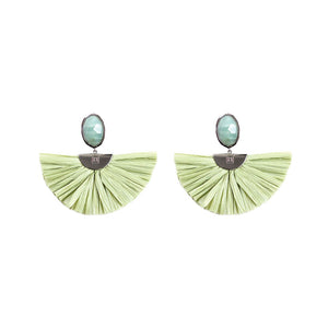 Cara Flutter Earrings in Sage