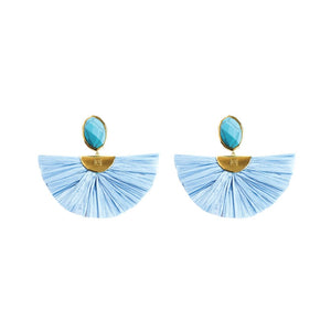 Cara Flutter Earrings in Sky
