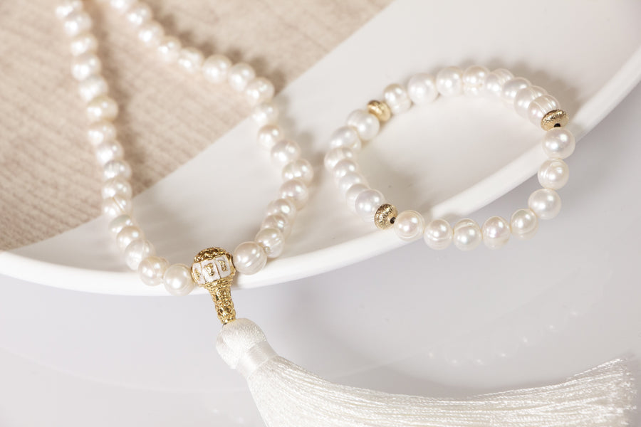 Pure Pearl Mala Necklace