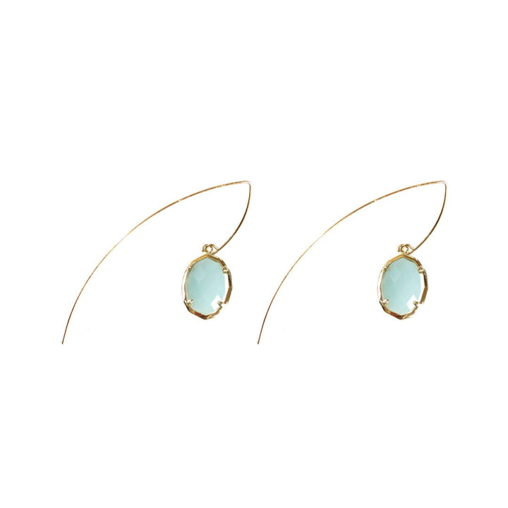 Jada Threaded Stone Earrings in Amazonite