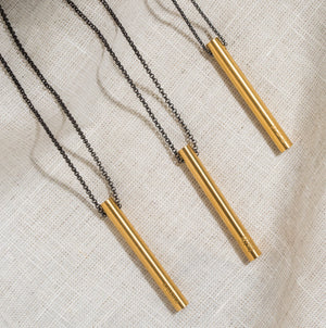 Beautiful Breath Drop Bar Necklace