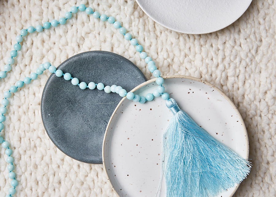 Happy Gratitude Mala Necklace