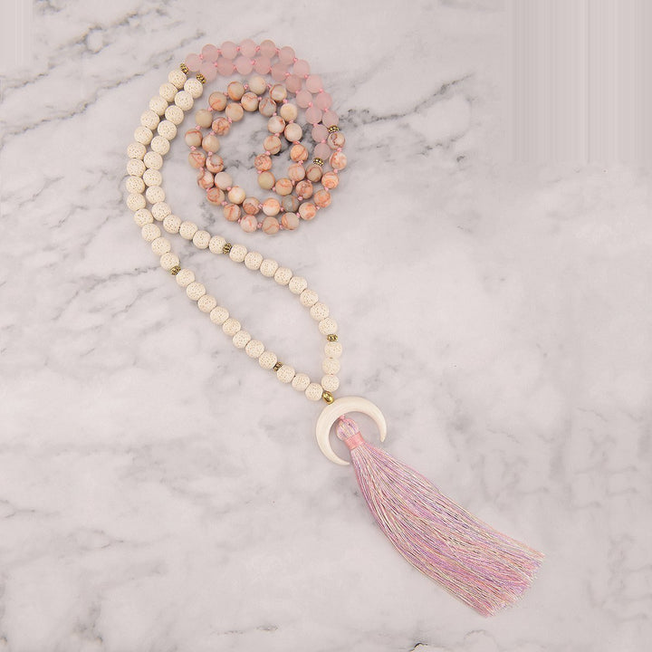 Rosy Love Mala Necklace