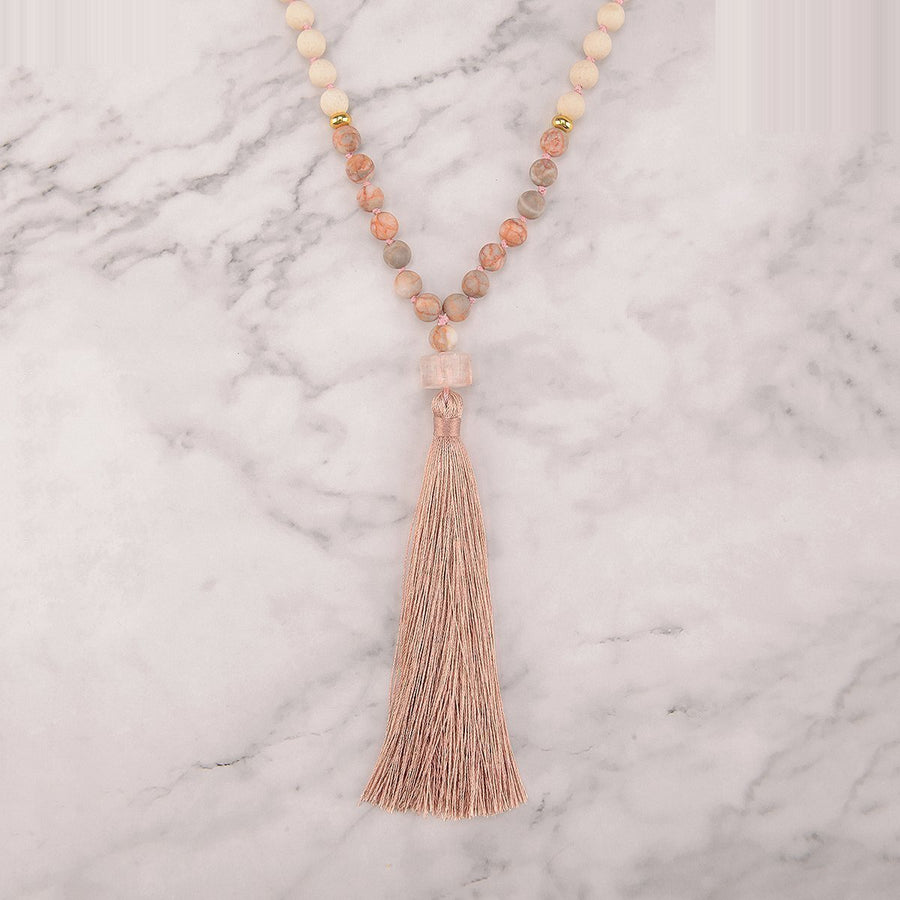 Golden Love Mala Necklace