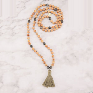 Moss Mala Necklace