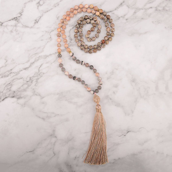 Rocky Road Mala Necklace