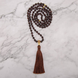 Energizing Garnet Mala Necklace