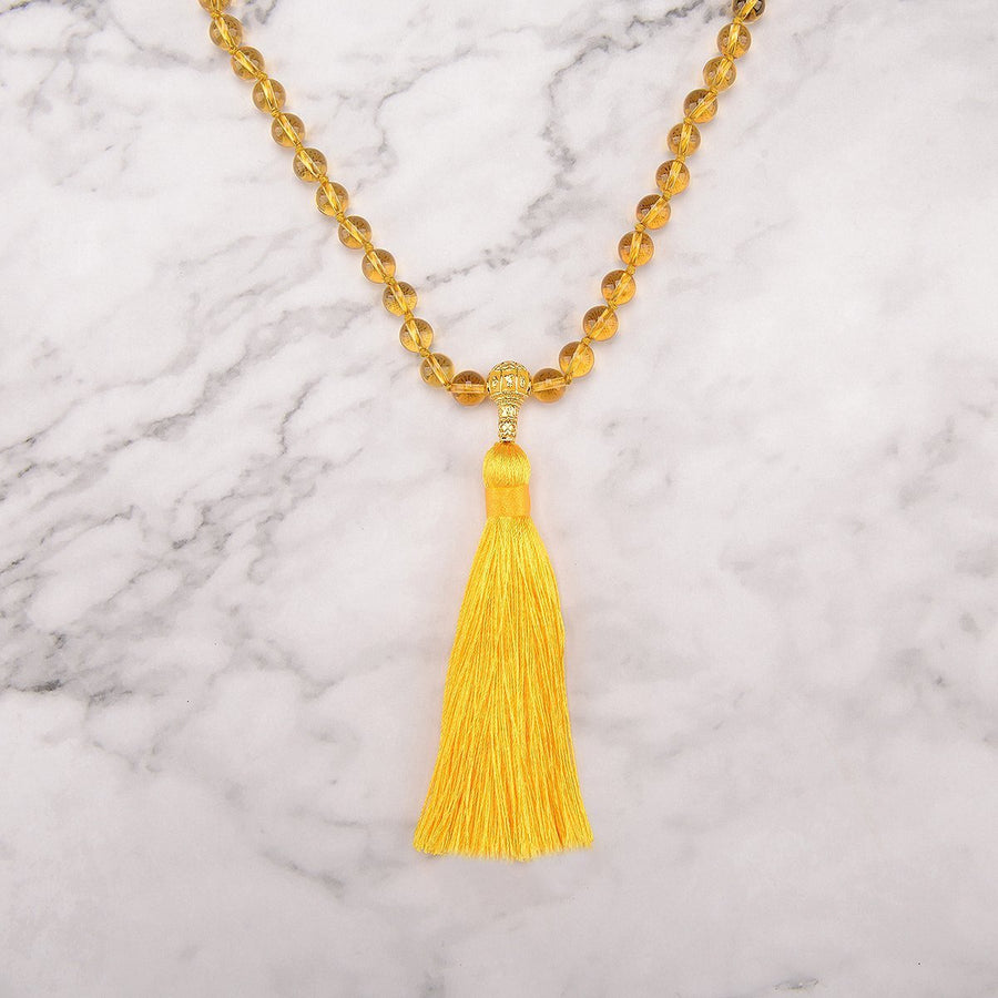Joyful Citrine Mala Necklace