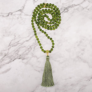 Luminous Peridot Mala Necklace