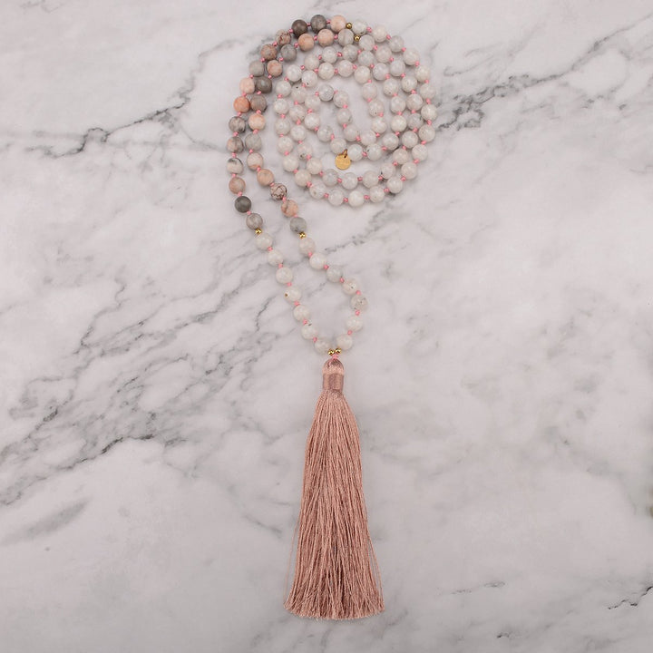 Bold Moon Mala Necklace