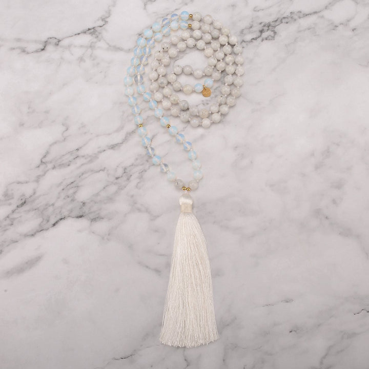 Full Moon Mala Necklace