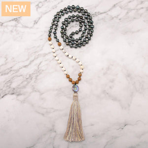 Sacred Pearls Mala Necklace