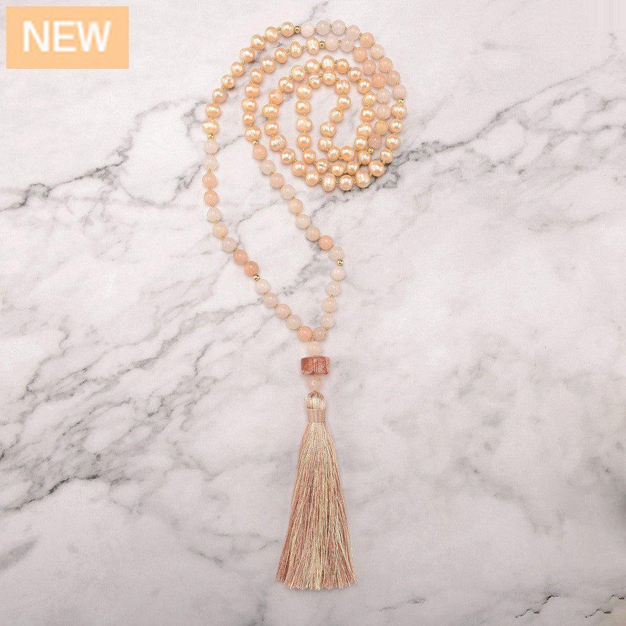 Sun Wisdom Pearls Mala Necklace