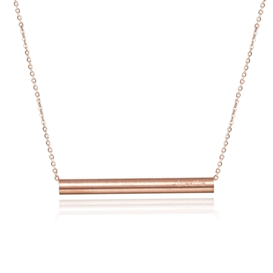 Just Breathe Bar Necklace