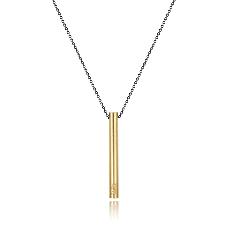 Prana Sanskrit Drop Bar Necklace