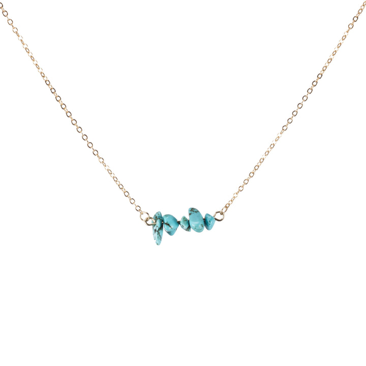 Turquoise Sphatika Crystal Bar Necklace