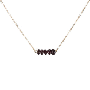 Garnet Sphatika Crystal Bar Necklace