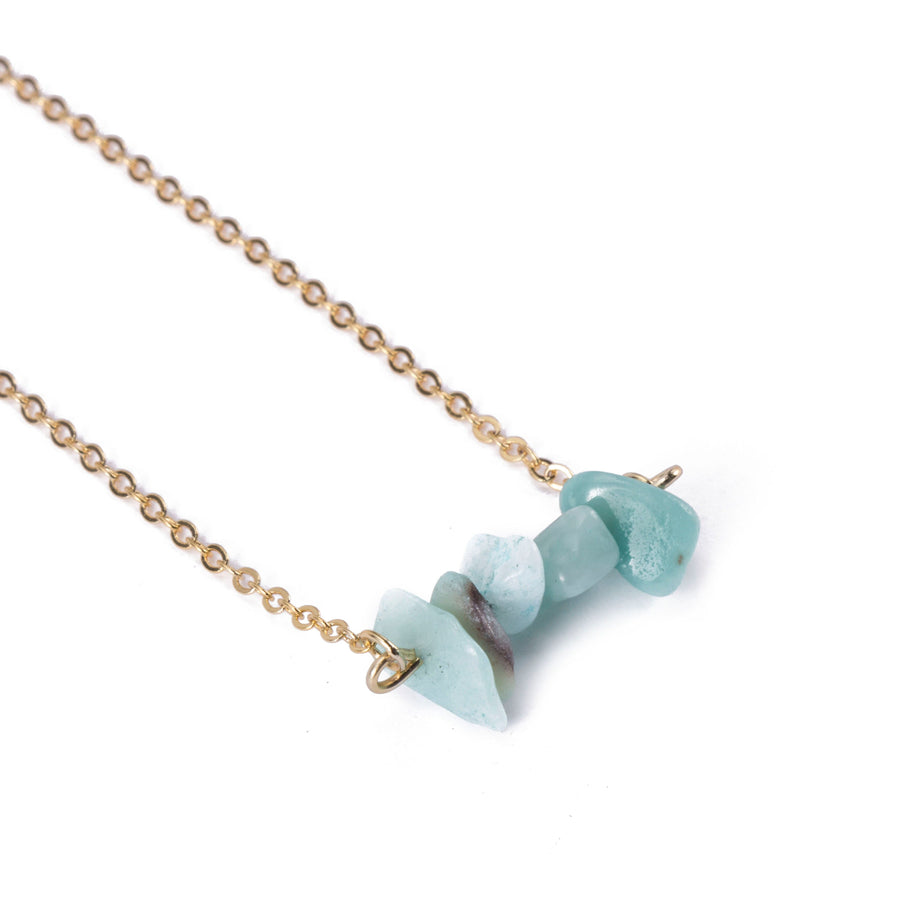 Amazon Sphatika Crystal Bar Necklace Gold