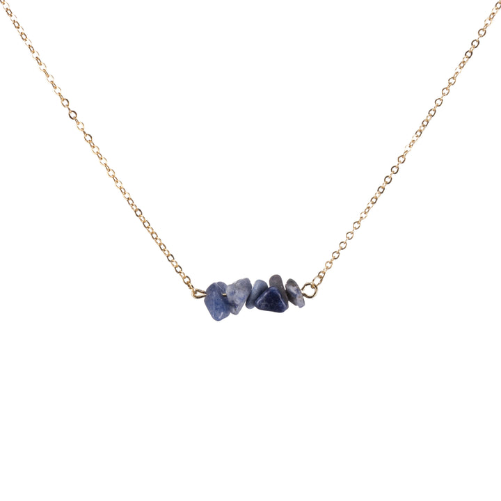Sodalite Sphatika Crystal Bar Necklace