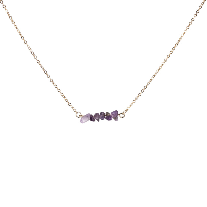 Amethyst Sphatika Crystal Bar Necklace