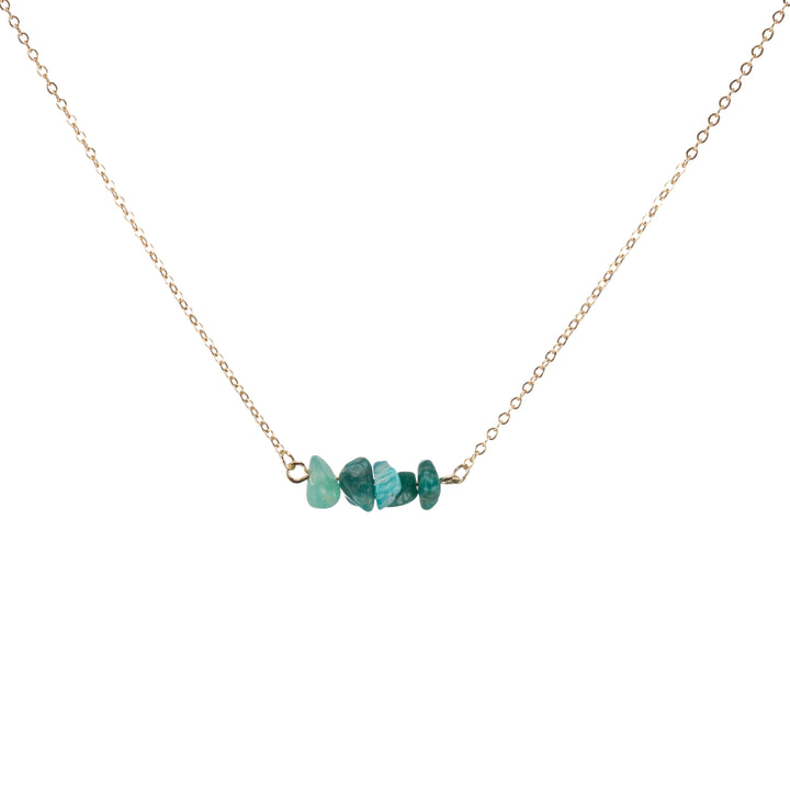 Amazonite Sphatika Crystal Bar Necklace