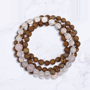 Honored Love 108 Bead Mala Bracelet