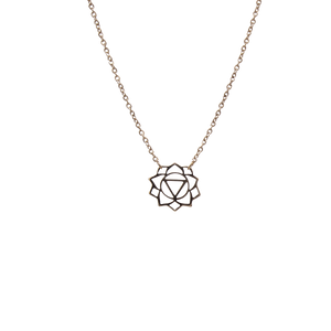 Manipura Necklace (The Solar Plexus Chakra) 14K Rose Gold Plated