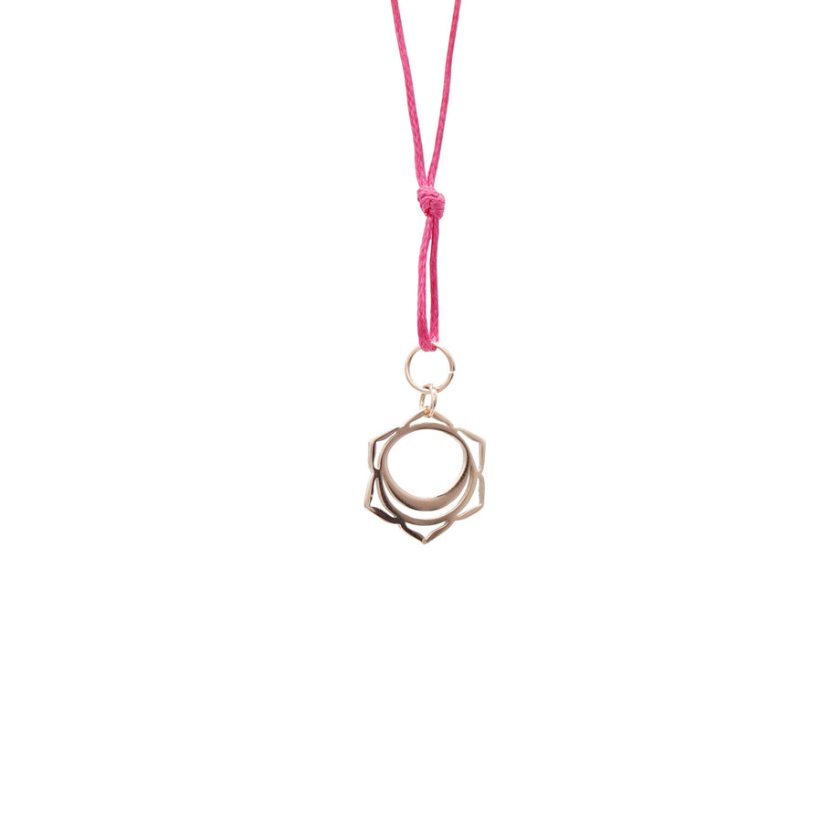 Pink Wax Cord Chakra Necklace Sacral