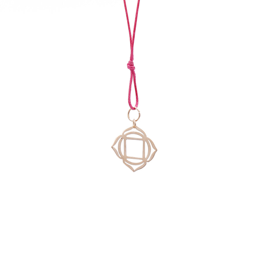 Pink Wax Cord Chakra Necklace Root