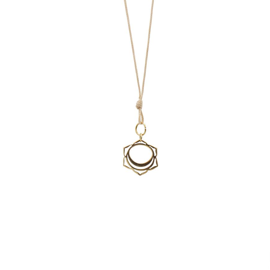 Gold Wax Cord Chakra Necklace