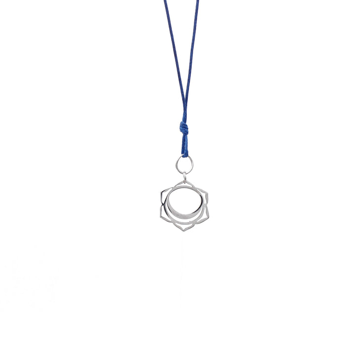 Navy Blue Wax Cord Chakra Necklace Sacral