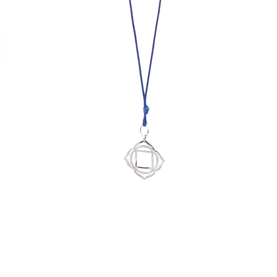 Navy Blue Wax Cord Chakra Necklace Root