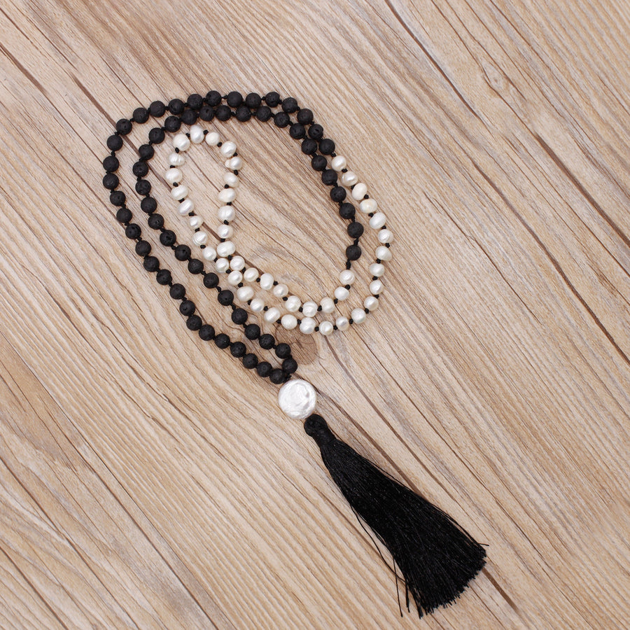 Oditi Pearl Mala Necklace