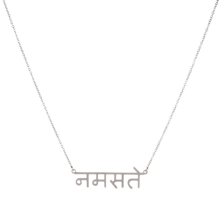 Namaste Sanskrit Necklace
