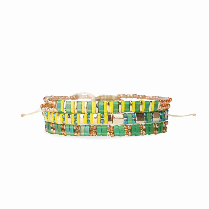 Green Fields Tila Bracelet Set