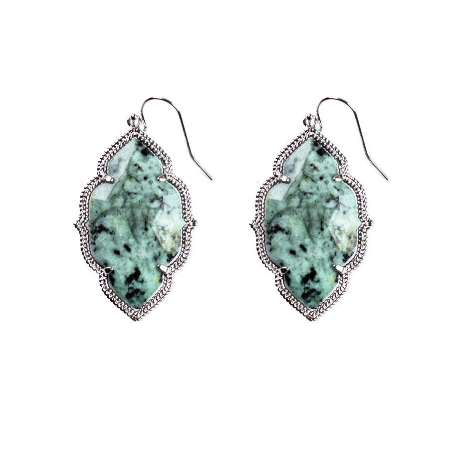 Quinn Drop Earrings in African Turquoise
