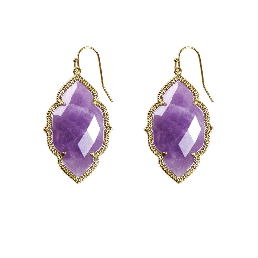 Quinn Drop Earrings in Amethyst