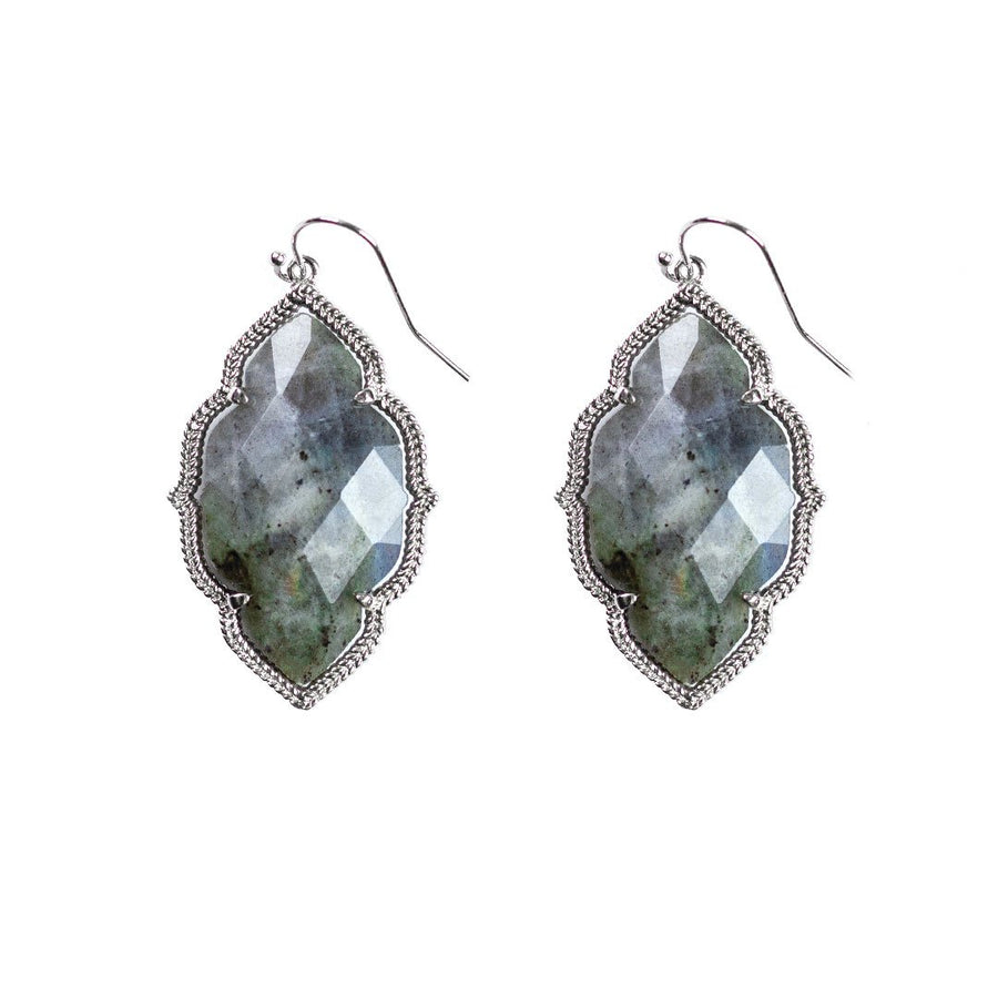 Quinn Drop Earrings in Labradorite