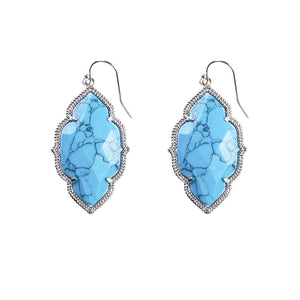 Quinn Drop Earrings in Turquoise
