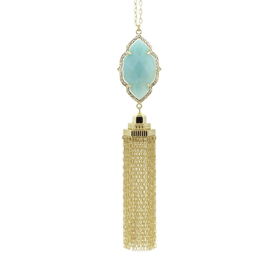 Rory Cascade Necklace in Amazonite